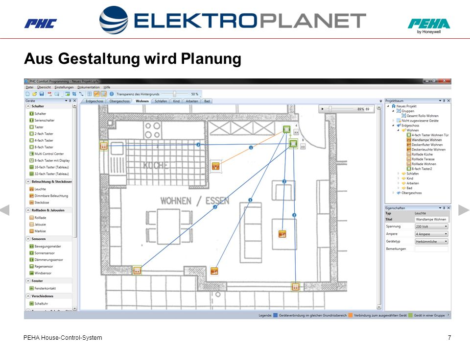 PEHA House-Control-System7 Aus Gestaltung wird Planung