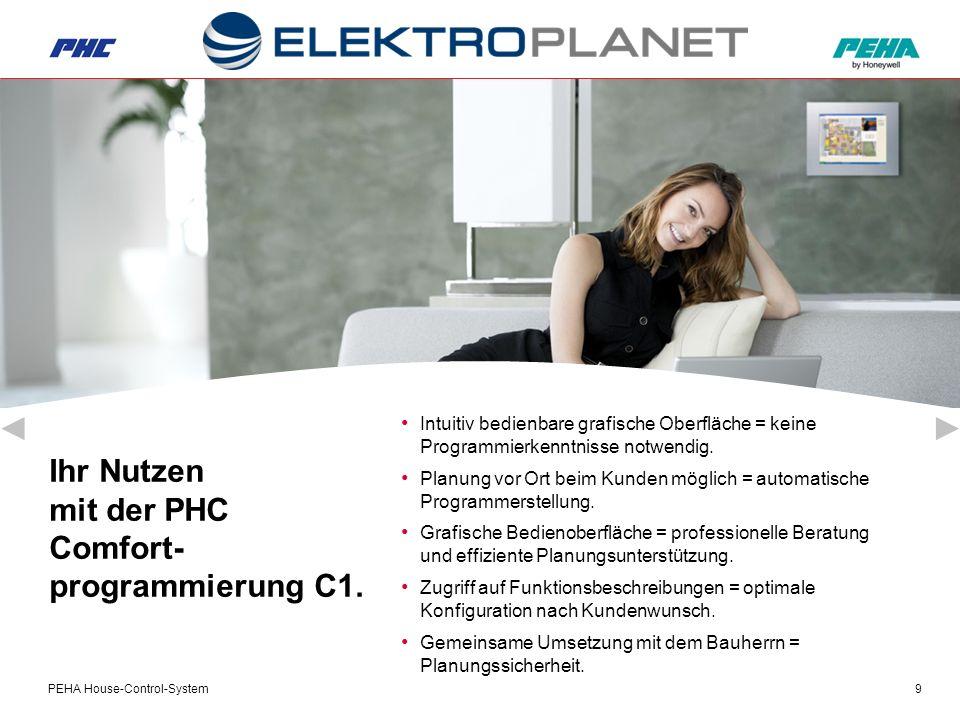 PEHA House-Control-System9 Ihr Nutzen mit der PHC Comfort- programmierung C1.