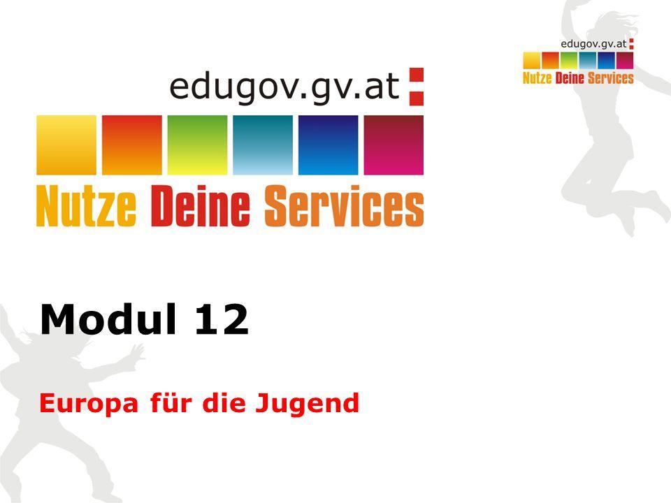 Modul 12 Europa für die Jugend