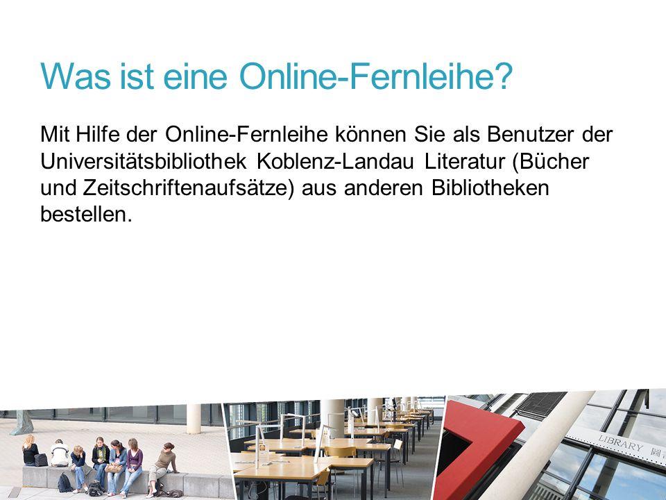 Was ist eine Online-Fernleihe.