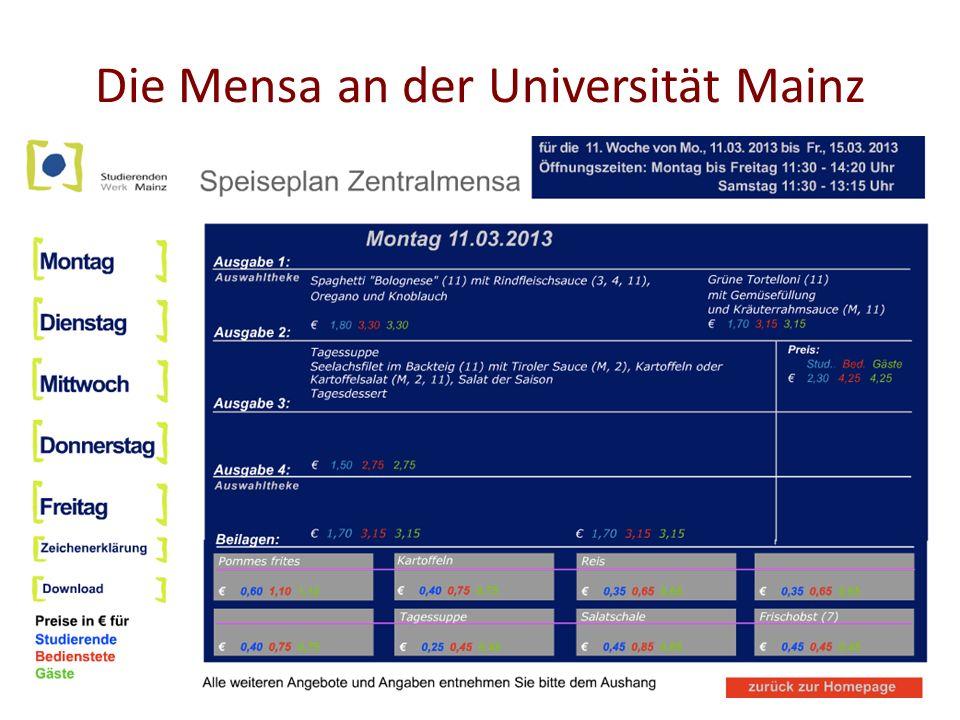 Die Mensa an der Universität Mainz