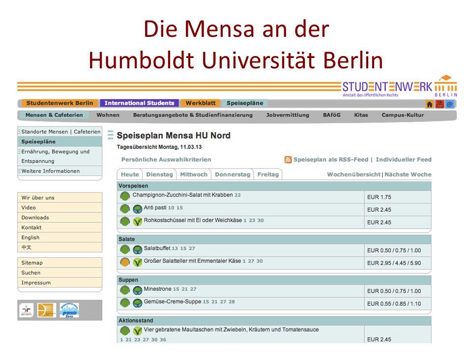 Die Mensa an der Humboldt Universität Berlin