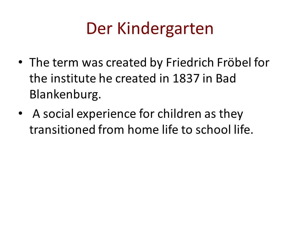 Die Grundschule Key aspects of Grundschule: Covers 1 st through 4 th grade.