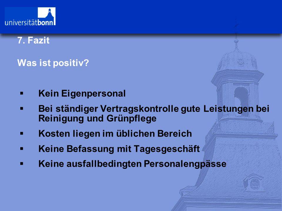 7. Fazit Was ist positiv.