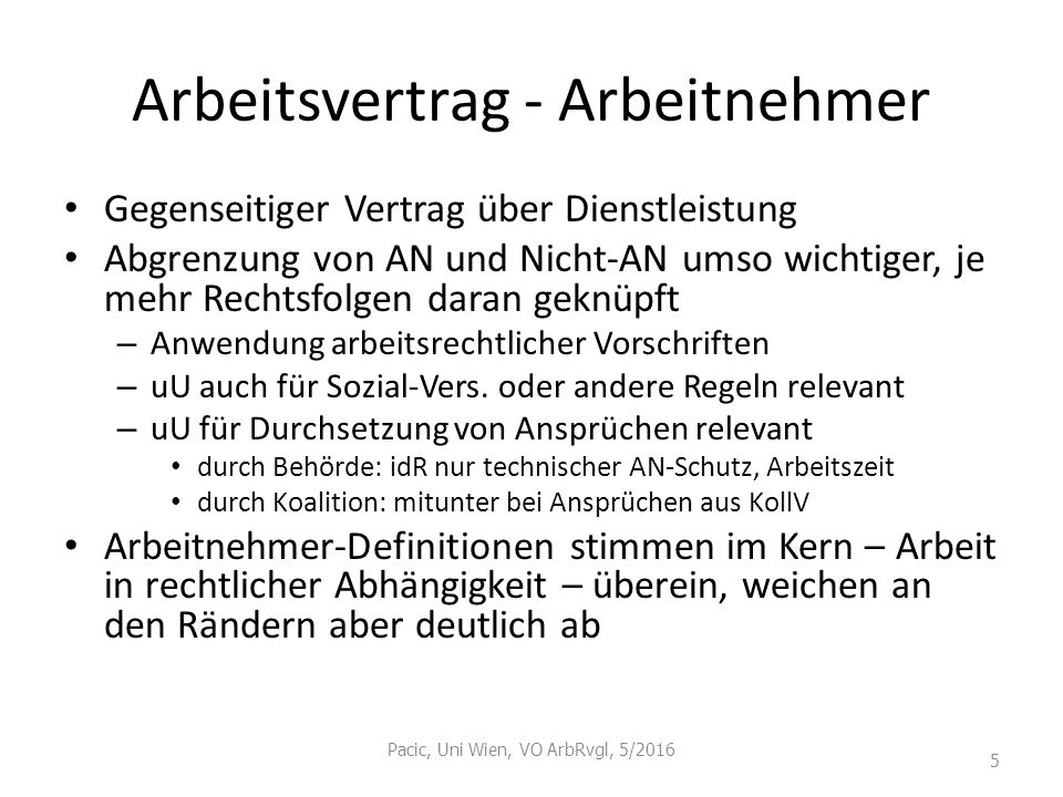 Kündigungsschutz I Voraussetzungen für Eingreifen Arbeitsvertrag (i.d.R.