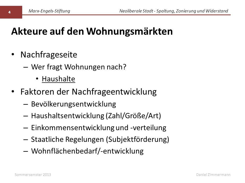 Marx-Engels-StiftungNeoliberale Stadt - Spaltung, Zonierung und Widerstand Daniel Zimmermann Quellen: Deutscher Bundestag (Hg.) (2011): Wohngeld- und Mietenbericht 2010.