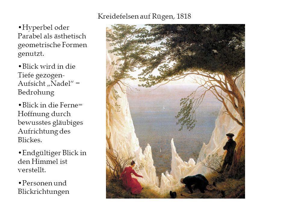 Kreidefelsen auf Rügen, 1818 Hyperbel oder Parabel als ästhetisch geometrische Formen genutzt.