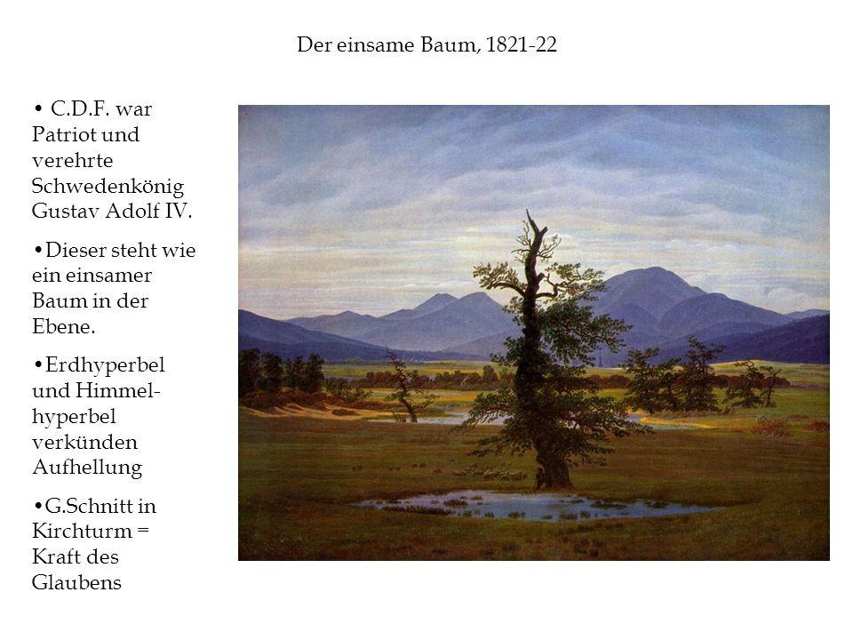 Der einsame Baum, 1821-22 C.D.F. war Patriot und verehrte Schwedenkönig Gustav Adolf IV.