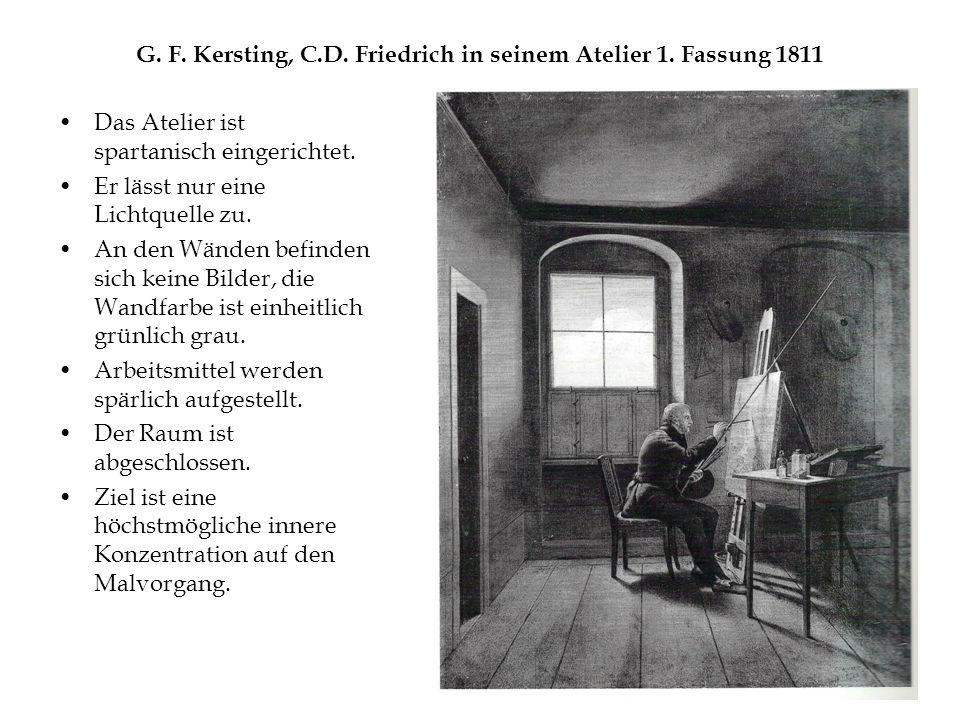 G. F. Kersting, C.D. Friedrich in seinem Atelier 1.