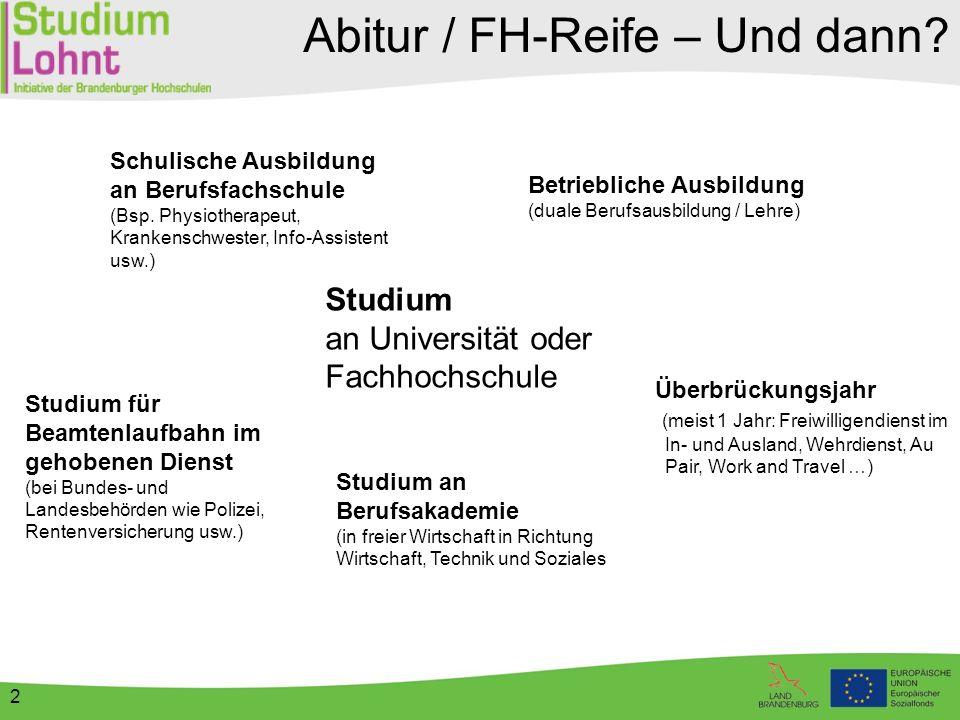 3 Studieren in Deutschland An rund 410 Hochschulen: Universitäten Fachhochschulen Kunst- und Musikhochschulen Berufsakademien FH für öffentl.