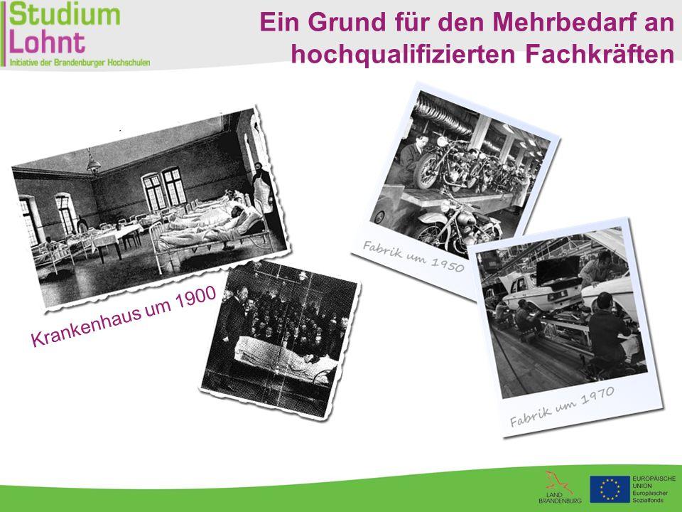 Krankenhaus um 1900 Ein Grund für den Mehrbedarf an hochqualifizierten Fachkräften