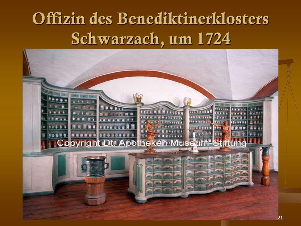 21 Offizin des Benediktinerklosters Schwarzach, um 1724