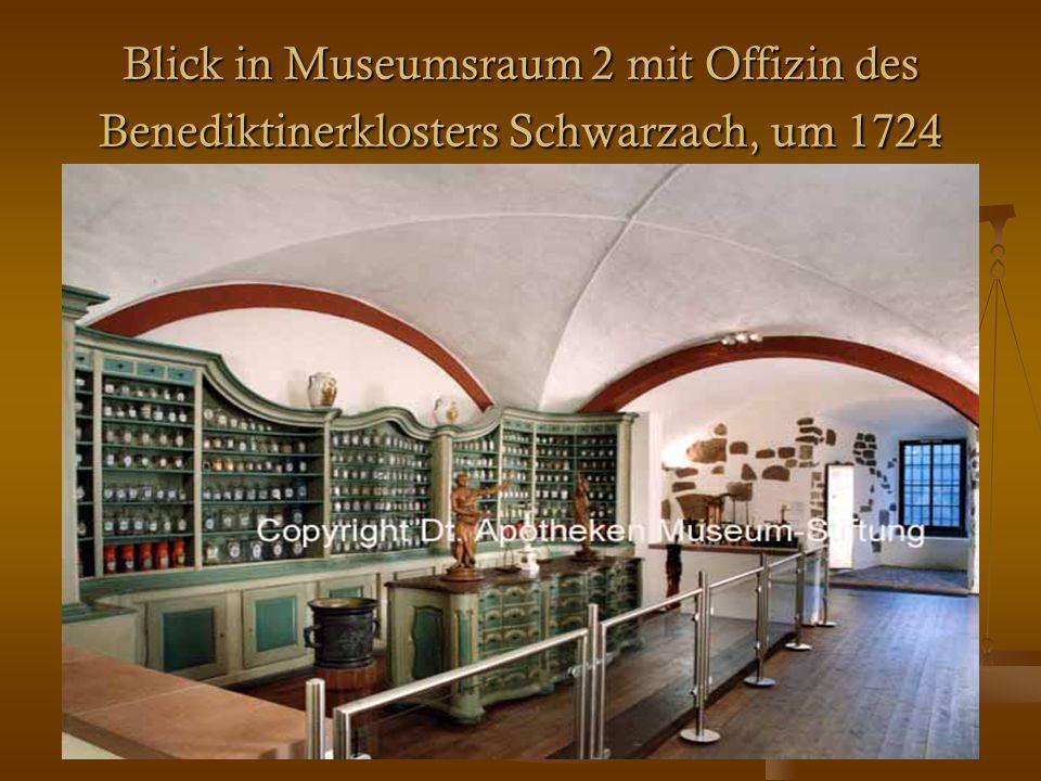 22 Blick in Museumsraum 2 mit Offizin des Benediktinerklosters Schwarzach, um 1724