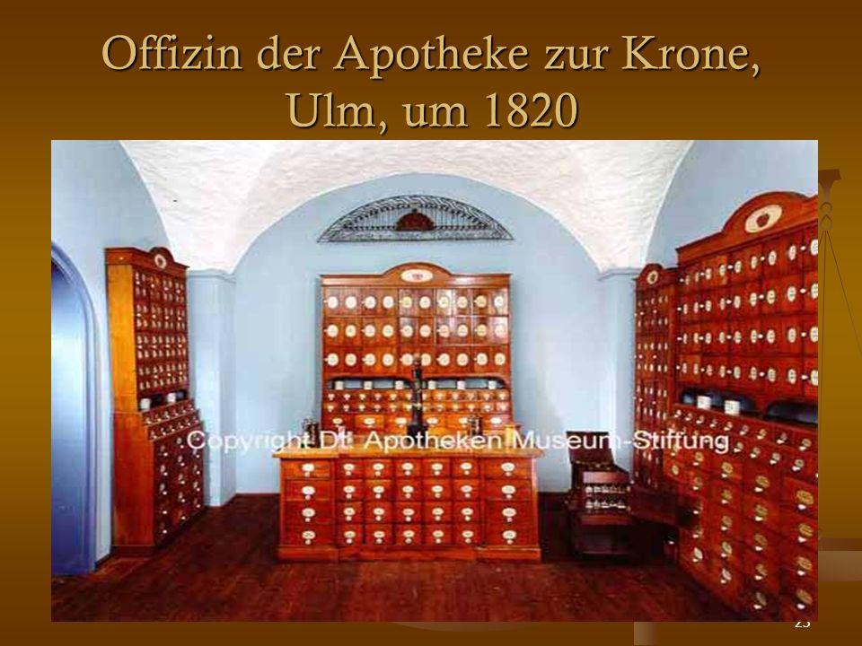 23 Offizin der Apotheke zur Krone, Ulm, um 1820