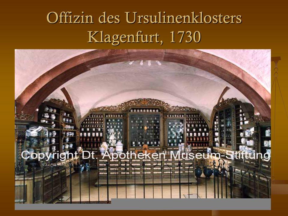 24 Offizin des Ursulinenklosters Klagenfurt, 1730