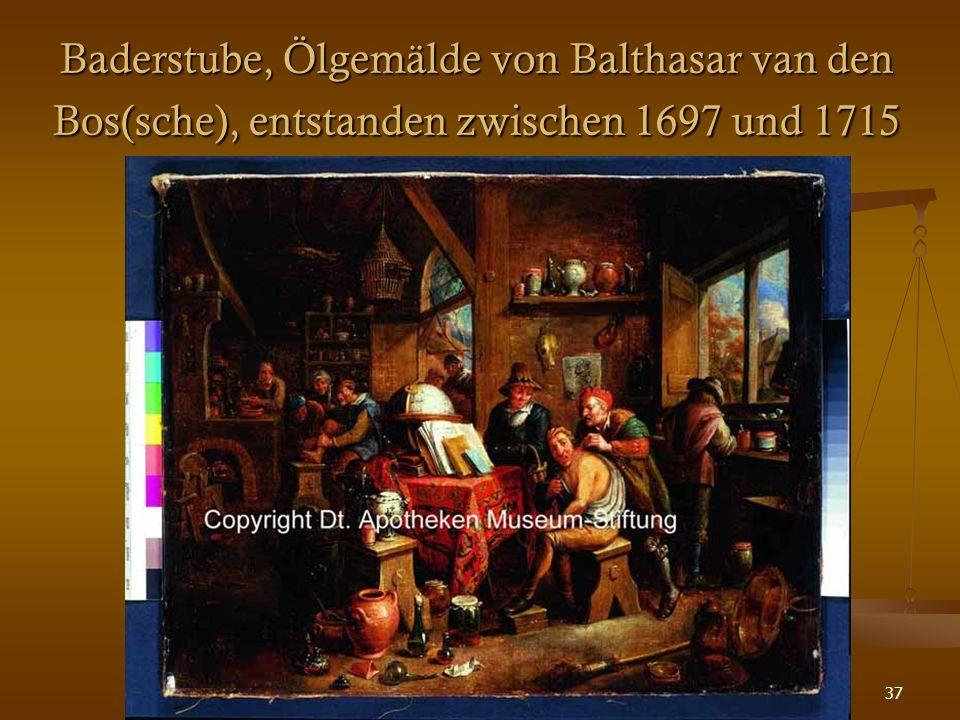 37 Baderstube, Ölgemälde von Balthasar van den Bos(sche), entstanden zwischen 1697 und 1715