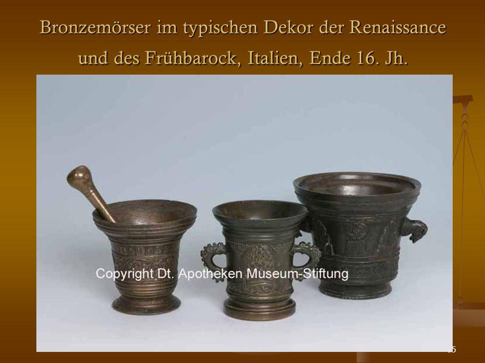 85 Bronzemörser im typischen Dekor der Renaissance und des Frühbarock, Italien, Ende 16. Jh.