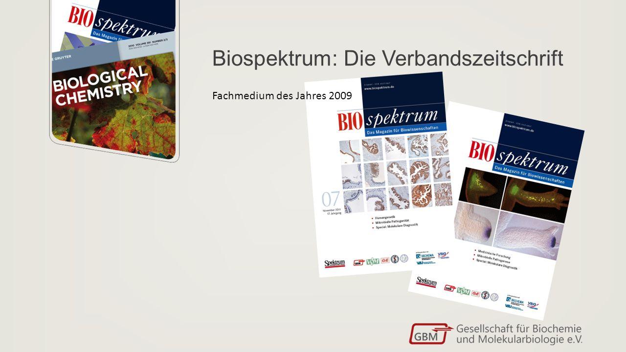 Biospektrum: Die Verbandszeitschrift Fachmedium des Jahres 2009