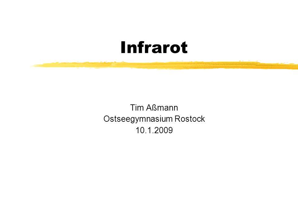 Infrarot Tim Aßmann Ostseegymnasium Rostock 10.1.2009