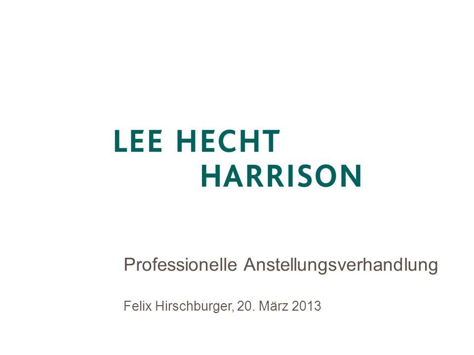 Professionelle Anstellungsverhandlung Felix Hirschburger, 20. März 2013