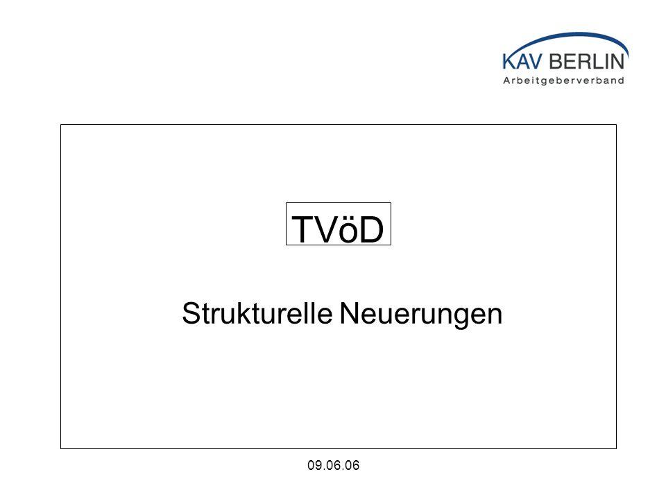 09.06.06 TVöD Strukturelle Neuerungen im Mantelbereich