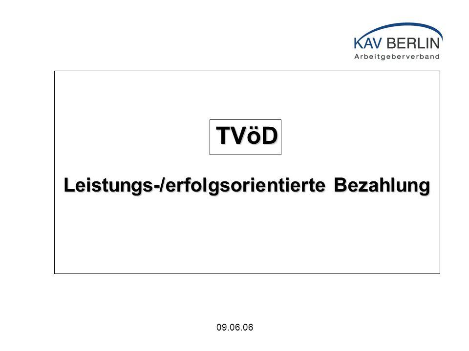 09.06.06 TVöD Leistungs-/erfolgsorientierte Bezahlung