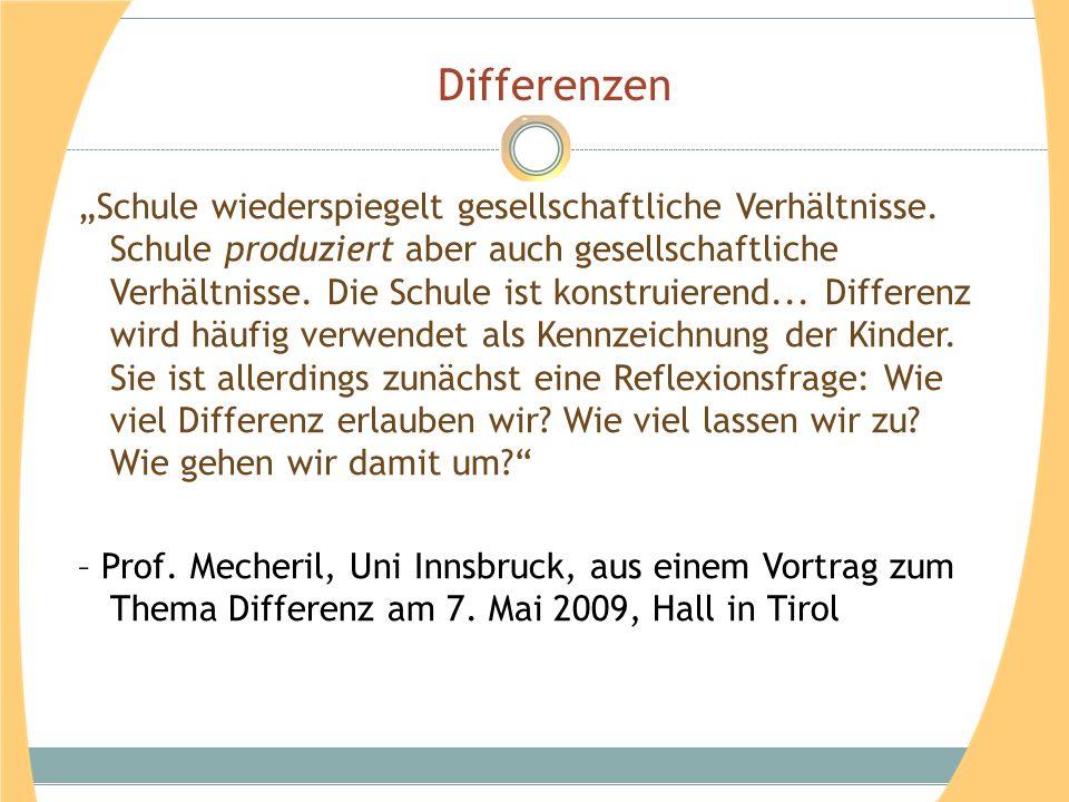 Falko Peschels Stufenmodell Differenzierung von oben , Lehrperson bestimmt, z.B.