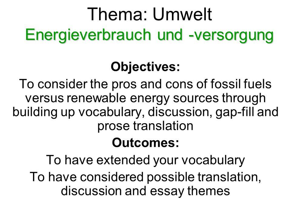 Um anzufangen Denk an 'Umweltwörter', die mit den folgenden Buchstaben beginnen!
