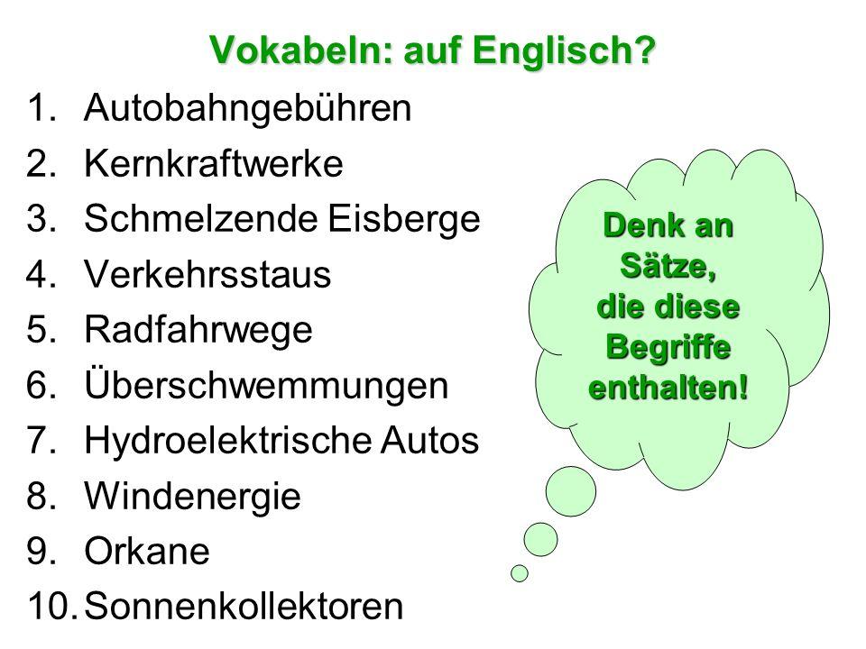 Allgemeine Fragen The following are a sample of the general conversation questions you might be asked in your A2 speaking exam: Welche Lösungsmöglichkeiten gibt es für Verkehrsstaus.
