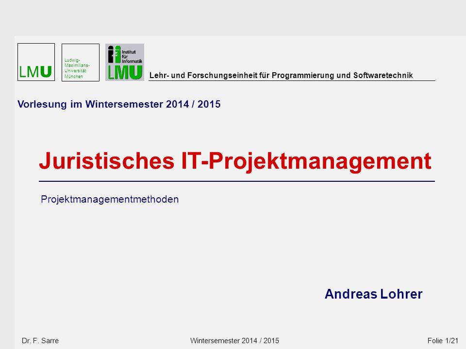 Wintersemester 2010 / 2011 Wintersemester 2014 / 2015 Dr.