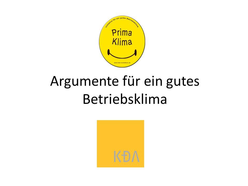 Argumente für ein gutes Betriebsklima