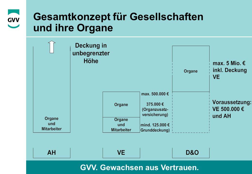 GVV. Gewachsen aus Vertrauen. Gesamtkonzept für Gesellschaften und ihre Organe