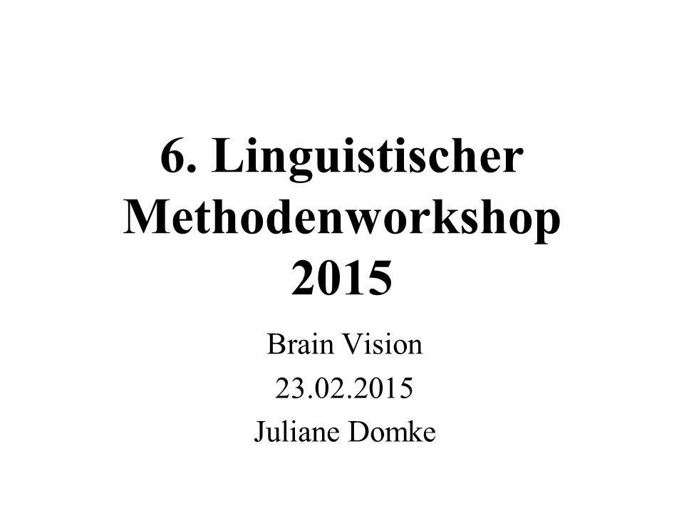 6. Linguistischer Methodenworkshop 2015 Brain Vision 23.02.2015 Juliane Domke