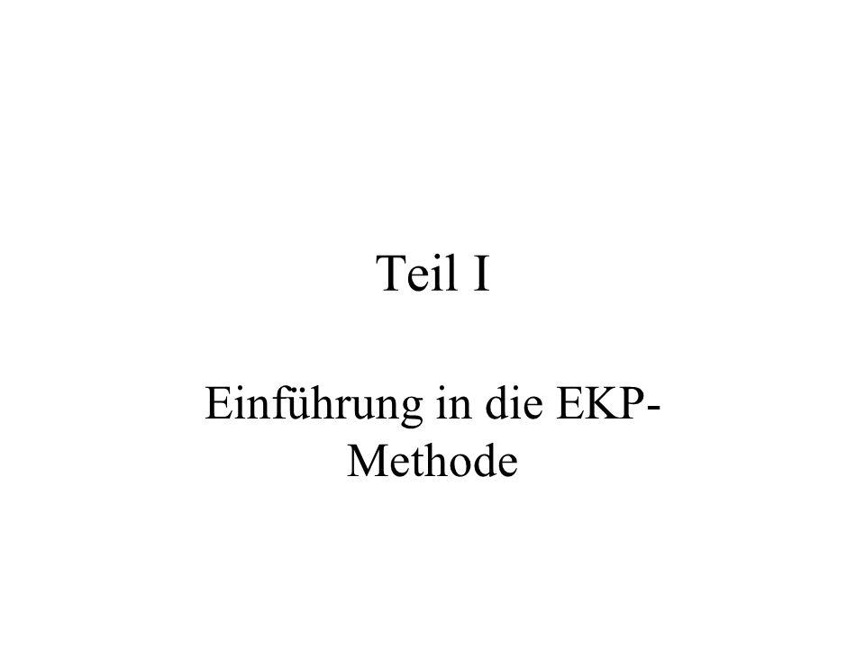 EKP –Trennung des EKP vom EEG-Hintergrund: der Versuchsperson wird wiederholt ein Reiz dargeboten dieser Reiz resultiert dann in einem Schwingungsprozess, der systematisch erfolgt und somit getriggert dann summiert und gemittelt wird.