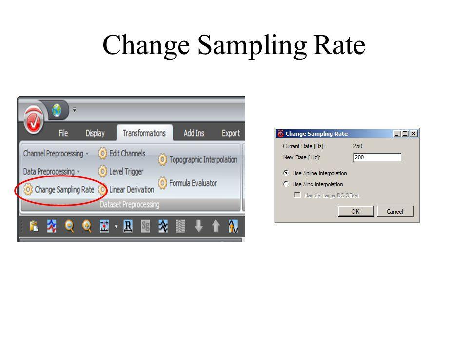 Change Sampling Rate