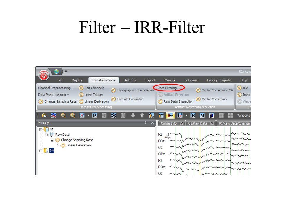 Filter – IRR-Filter