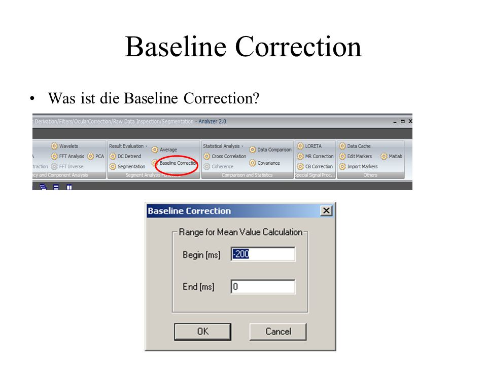 Baseline Correction Was ist die Baseline Correction