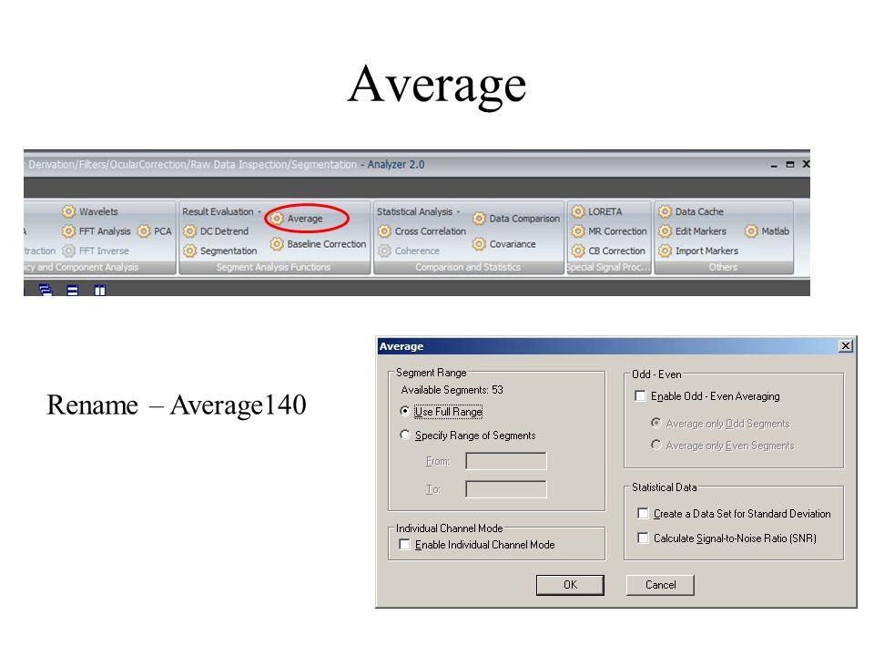 Average Rename – Average140