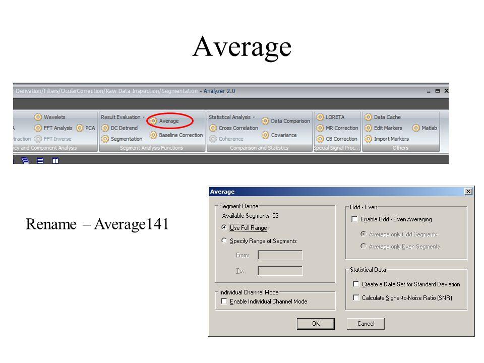 Average Rename – Average141