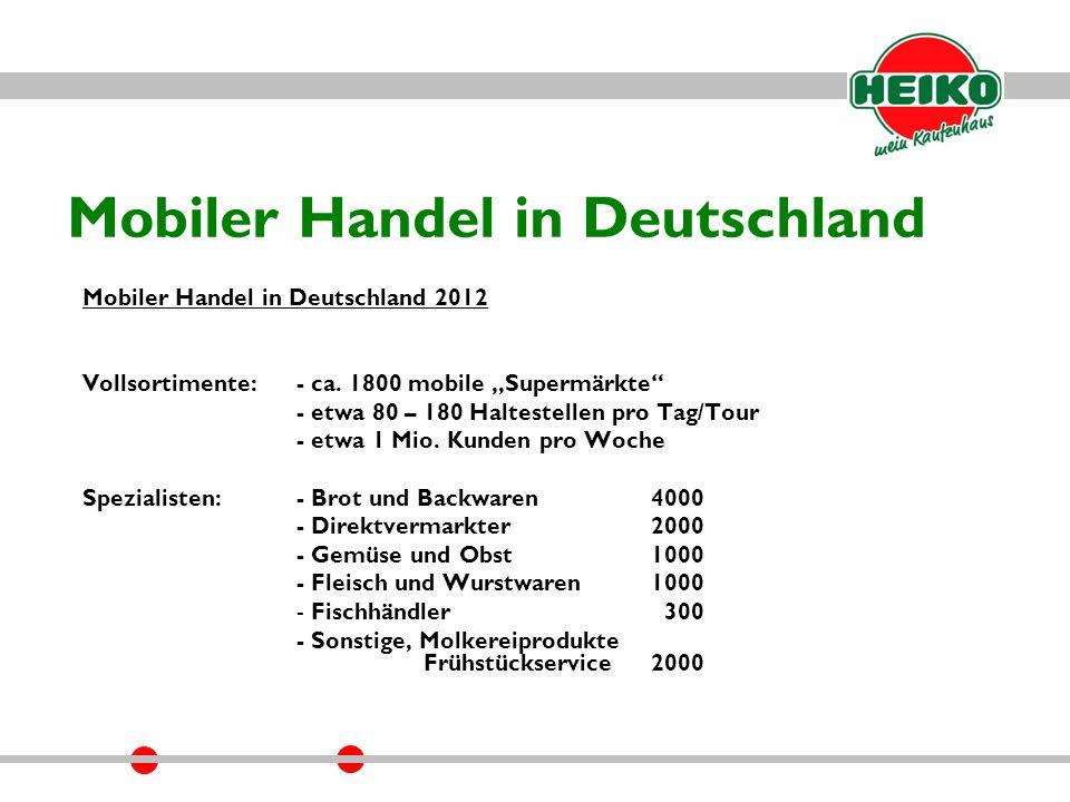 Mobiler Handel in Deutschland Mobiler Handel in Deutschland 2012 Vollsortimente:- ca.