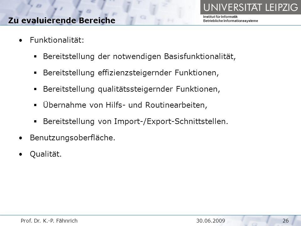 Institut für Informatik Betriebliche Informationssysteme Prof.