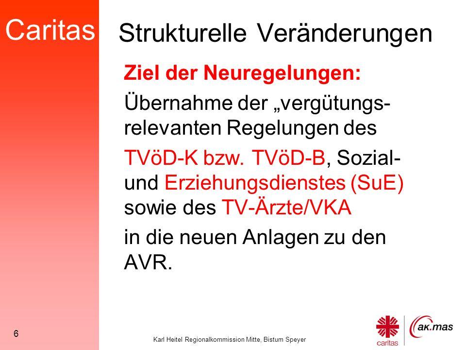 Caritas Karl Heitel Regionalkommission Mitte, Bistum Speyer 57 Pflegezulage Pflegepersonen der Vergütungs-gruppen KR 1 bis KR 10, die die Grund- und Behandlungspflege zeitlich überwiegend in der häuslichen Pflege ausüben, erhalten für die Dauer dieser Tätigkeit eine monatliche Zulage in Höhe von 46,02 €.