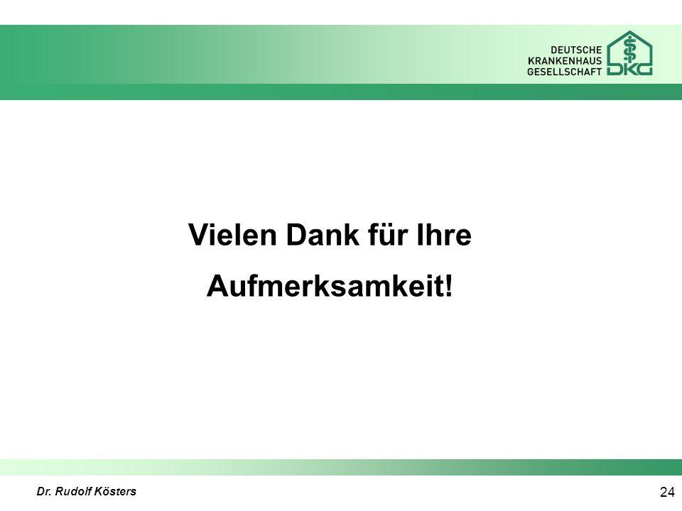 Dr. Rudolf Kösters 24 Vielen Dank für Ihre Aufmerksamkeit!