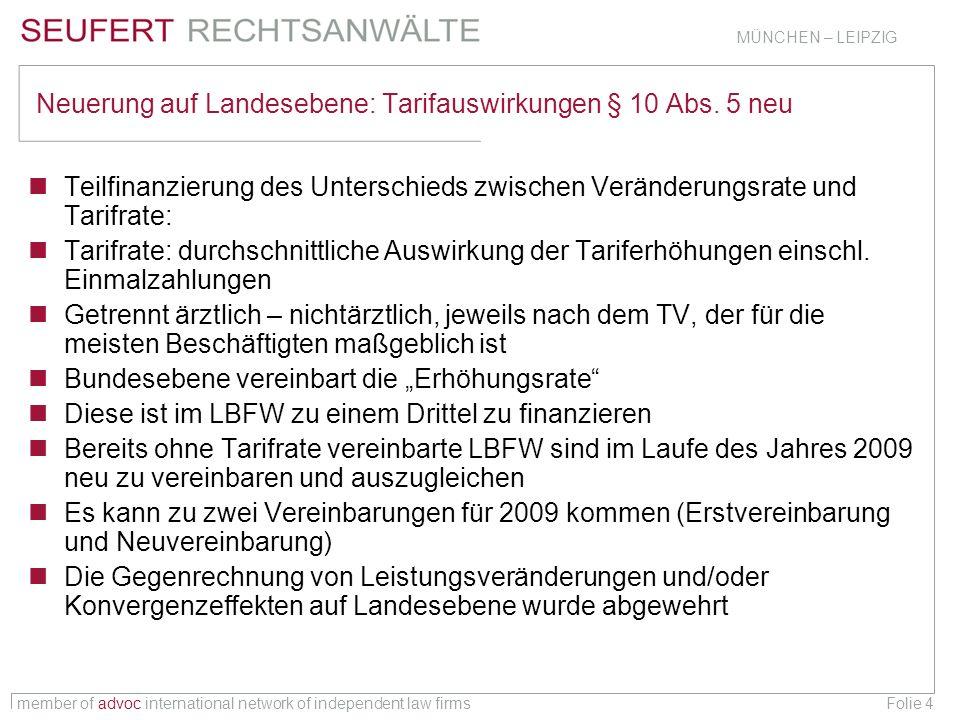 member of advoc international network of independent law firms MÜNCHEN – LEIPZIG Folie 15 Konvergenzverlängerung – sofortige Umsetzung § 5 Abs.