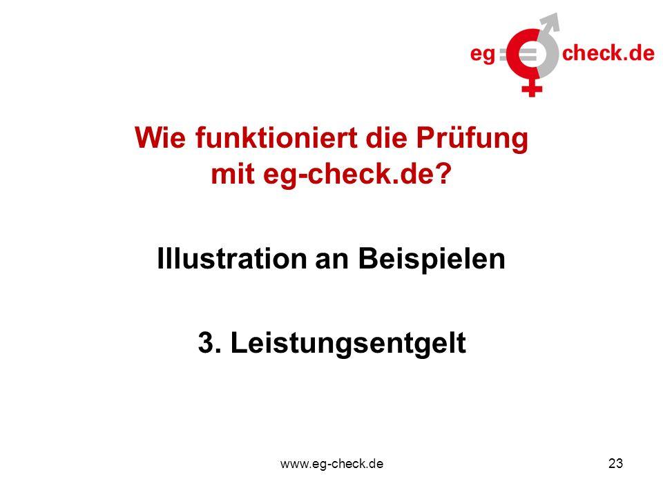www.eg-check.de23 Wie funktioniert die Prüfung mit eg-check.de? Illustration an Beispielen 3. Leistungsentgelt