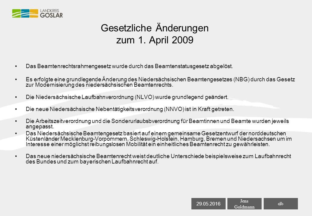29.05.2016 Jens Goldmann 4 Gesetzliche Änderungen zum 1.