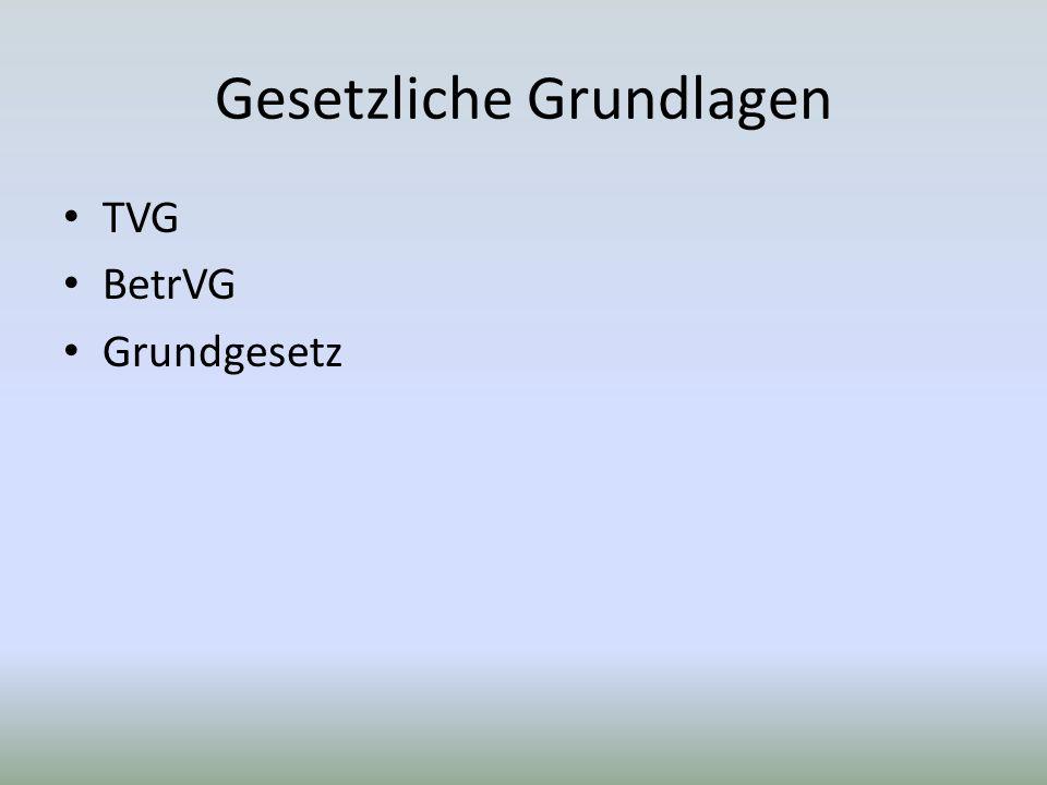 Gesetzliche Grundlagen TVG BetrVG Grundgesetz