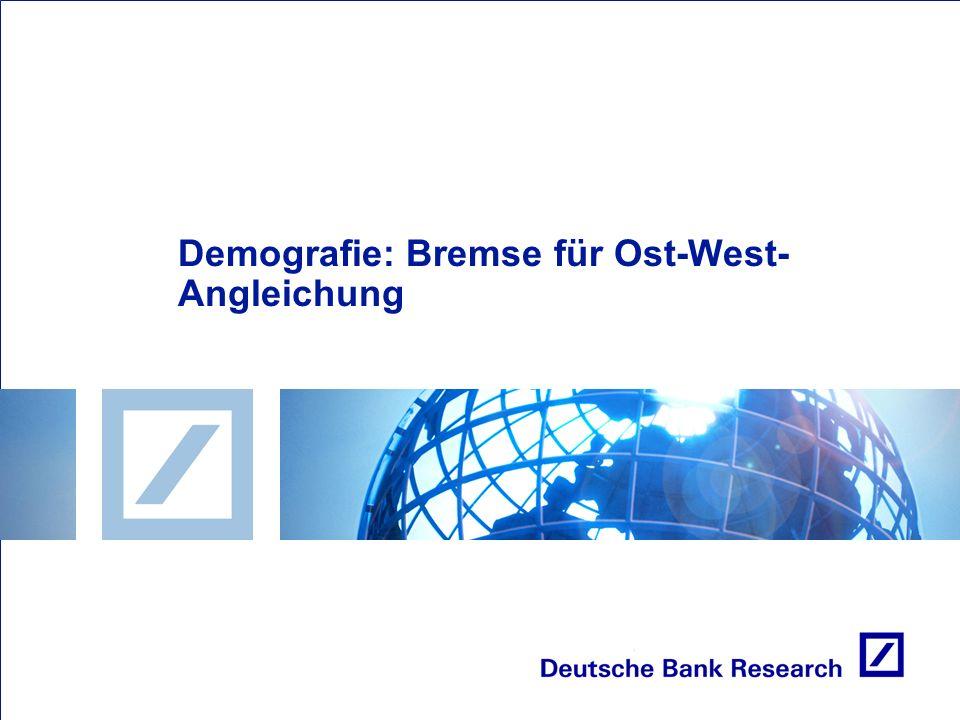 Demografie: Bremse für Ost-West- Angleichung