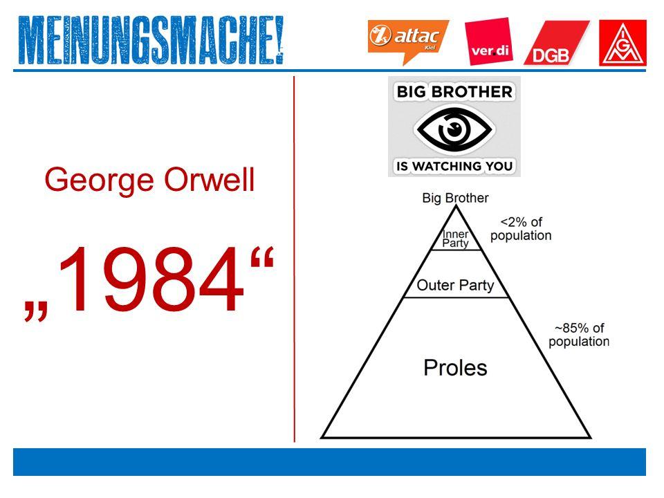 """Das politische Europa George Orwell """"1984"""