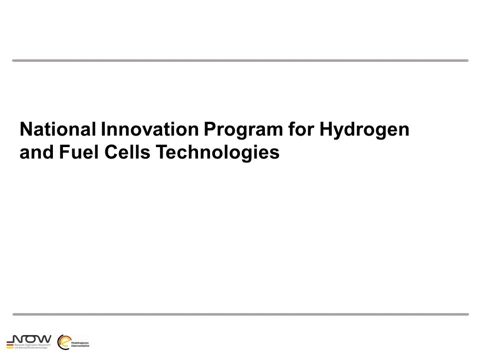 National Innovation Program for Hydrogen and Fuel Cells Technologies